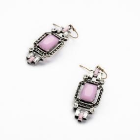Hollywood Vintage Pink Stone Earrings.....FREE SHIPPING