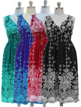 Plus Size Paisley Maxi Dress